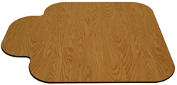 Traditional shape chair mat by SnapMat for your office with a lip to fit under the desk or workstation area