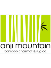 Anji Mountain bamboo rug co makes high end office chair mats out of natural bamboo