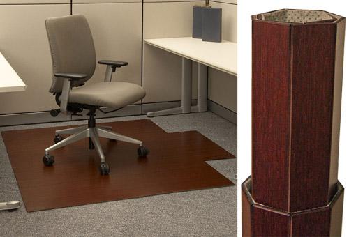 dark cherry roll-up bamboo chair mat dark cherry $220.00 for