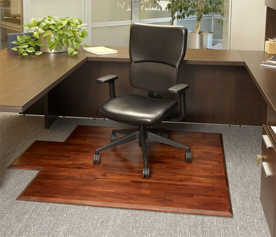 Wood Desk Chair Mat In Teak For Office By Anji Mountain - Office chair mat