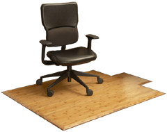 Bamboo office chair mats by Anji Mountain Bamboo Rug Co.