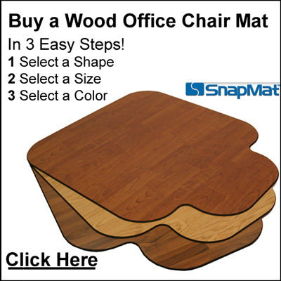Buy a nice wood chair mat that will last in your office