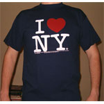 I Love New York T-Shirts are the thing for New Yorkers.  Express your love for 'the City' as it is called.  NY will thank you