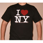 The logo 'I love New York is timeless.  Just like the city it represents.  This black t-shirt is a great statement.