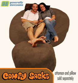giant bean bag chairs like the LoveSac are a huge new trend in home theater seating.  Watching a movie or playing video games in these things is a sweet way to sit.  What a great kind of foam filled chair.
